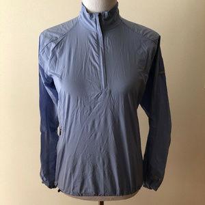Mountain Hardwear blue/lav windbreaker - womens S